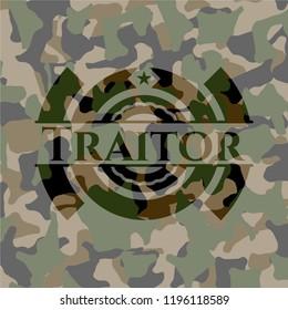 Traitor on camouflaged texture