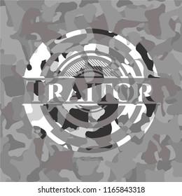 Traitor on grey camo pattern