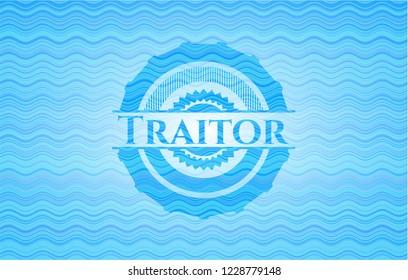 Traitor water wavec oncept emblem.