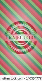 Trajectory christmas colors emblem. Vector Illustration. Detailed.