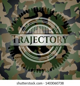 Trajectory on camouflaged texture. Vector Illustration. Detailed.