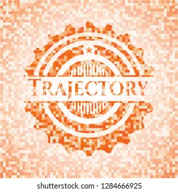 Trajectory orange mosaic emblem