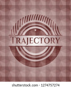Trajectory red seamless geometric pattern emblem. Seamless.