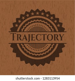 Trajectory wood icon or emblem