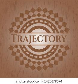 Trajectory wood icon or emblem. Vector Illustration.