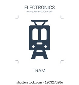 tram icon. high quality filled tram icon on white background. from electronics collection flat trendy vector tram symbol. use for web and mobile