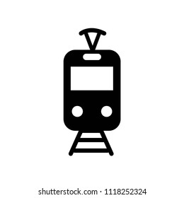 Tram icon vector icon. Simple element illustration. Tram or tramway symbol design from transportation set. Can be used for web and mobile.