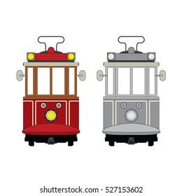 tram vector.