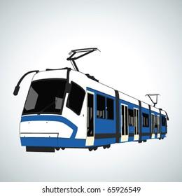 Tram in vector