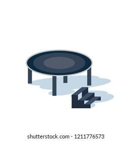 trampoline flat design. Vector illustration