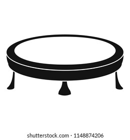 Trampoline icon. Simple illustration of trampoline vector icon for web design isolated on white background