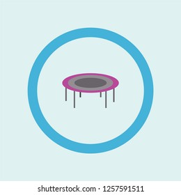 trampoline icon symbol. Premium quality isolated trampoline vector icon in trendy style. trampoline element.