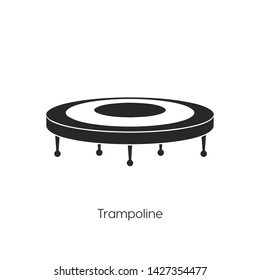 trampoline icon vector. trampoline symbol. Linear style sign for mobile concept and web design. trampoline symbol illustration. Pixel vector graphics - Vector.