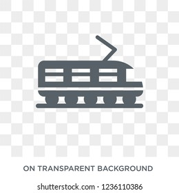 Tramway icon. Tramway design concept from Transportation collection. Simple element vector illustration on transparent background.