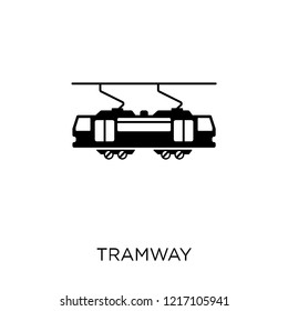 Tramway icon. Tramway symbol design from Transportation collection.