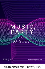 Trance event. Abstract concert magazine template. Dynamic gradient shape and line. Neon trance event flyer. Techno dj party. Electro dance music. Electronic sound. Club fest poster.