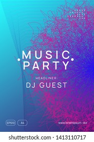 Trance event. Minimal concert banner concept. Dynamic gradient shape and line. Neon trance event flyer. Techno dj party. Electro dance music. Electronic sound. Club fest poster.