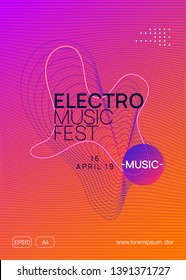 Trance event. Minimal discotheque banner template. Dynamic gradient shape and line. Neon trance event flyer. Techno dj party. Electro dance music. Electronic sound. Club fest poster.