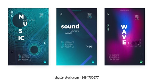 Trance Music Concept. Electronic Festival Background. Futuristic Dj Party. Wave Event. Vibrant Music Poster. Glitch Electronic Motion Background. Dj Flyer. Wave Fluid. Music Abstract.