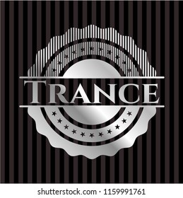 Trance silvery badge