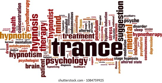 Trance word cloud concept. Vector illustration