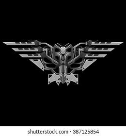 Tranformed shape of eagl with sharp rasors