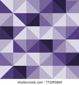 trangle pattern seamless. ultra violet background. color of the year 2018. purple texture. modern trend graphic interior design. paper card wallpaper.