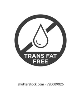 Trans fat free icon. Vector illustration.