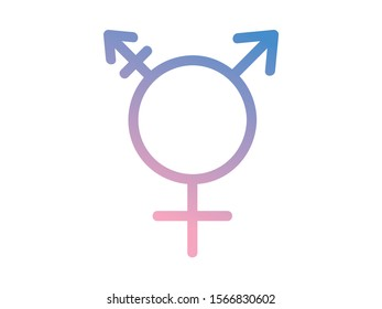Trans Sign Symbol Icon Sexuality Gender Love Ombre Pastel Transgender