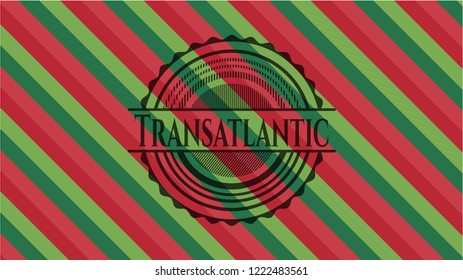 Transatlantic christmas badge background.