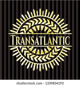 Transatlantic gold badge or emblem
