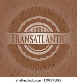 Transatlantic wood emblem. Vintage. Vector Illustration.