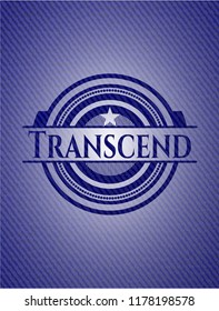 Transcend badge with jean texture