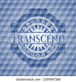Transcend blue hexagon badge.