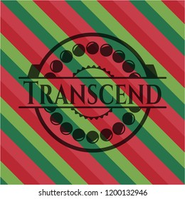 Transcend christmas badge background.