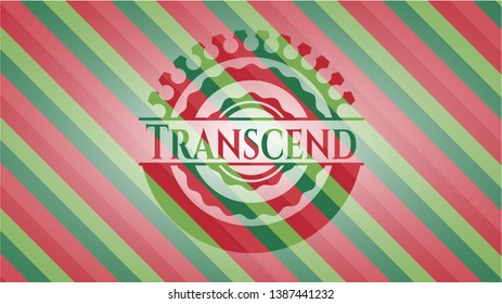 Transcend christmas colors style badge. Vector Illustration. Detailed.