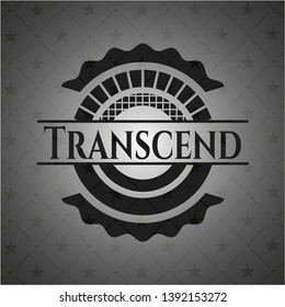 Transcend dark icon or emblem. Vector Illustration. Detailed.