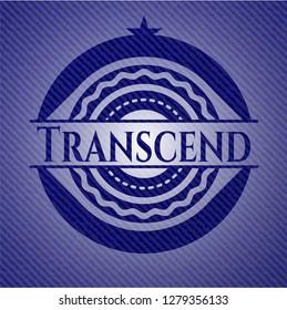 Transcend emblem with jean high quality background