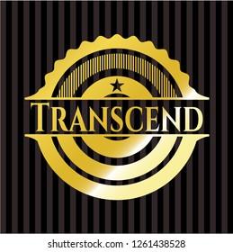 Transcend gold emblem or badge