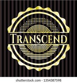 Transcend gold shiny badge