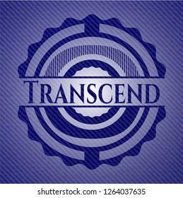 Transcend jean or denim emblem or badge background
