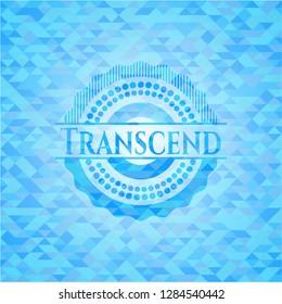Transcend light blue mosaic emblem