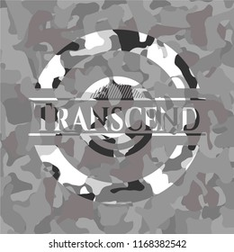Transcend on grey camo pattern
