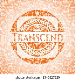 Transcend orange mosaic emblem