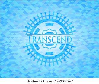 Transcend realistic light blue mosaic emblem