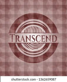Transcend red seamless geometric emblem.