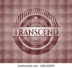 Transcend red seamless geometric pattern emblem. Seamless.