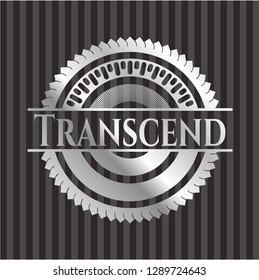 Transcend silver badge or emblem