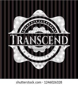 Transcend silver shiny badge