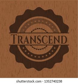 Transcend vintage wood emblem
